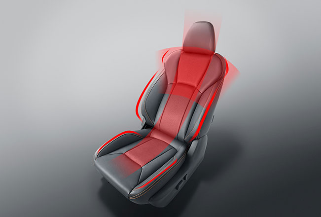 redesigned seats for comfort